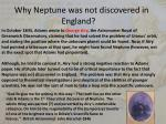 why neptune was not discovered in england