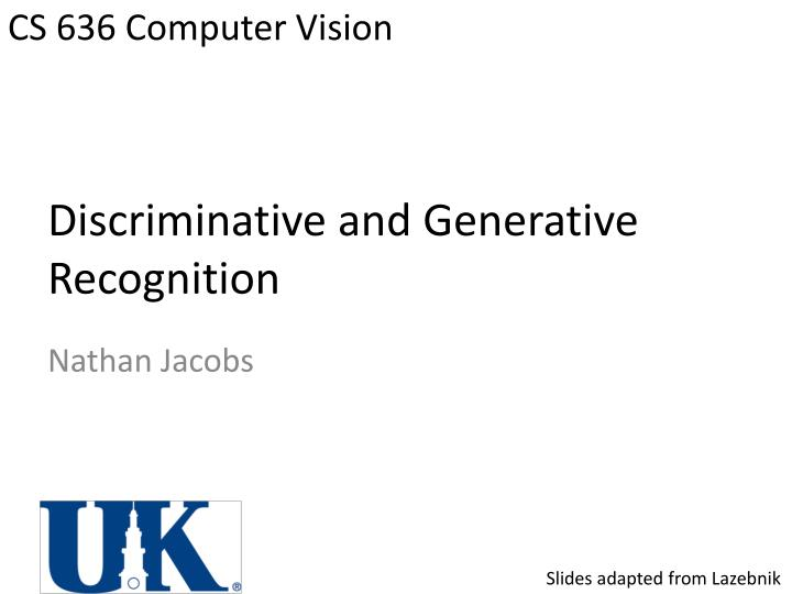 discriminative and generative recognition n.