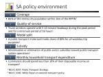 sa policy environment