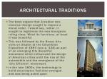 architectural traditions
