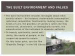 the built environment and values