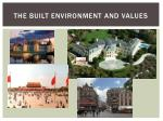 the built environment and values2
