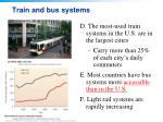 train and bus systems