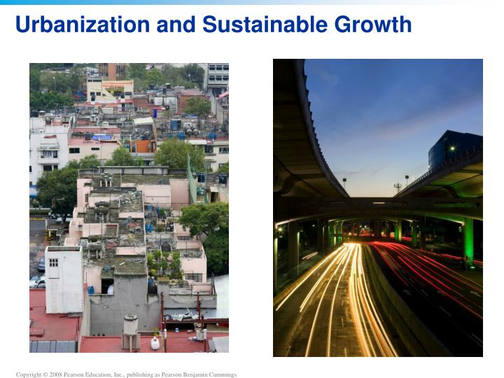 urbanization and sustainable growth n.