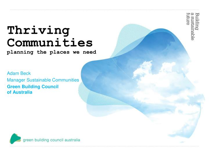thriving communities planning the places we need n.