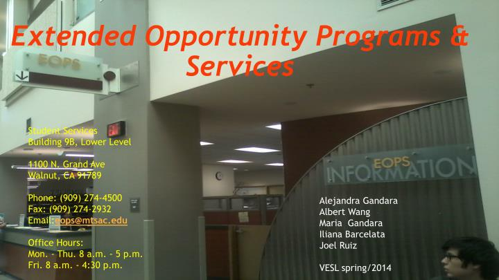 extended opportunity programs services n.