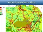 center corridor wedge model