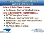 setting a course federal and state sustainability initiatives