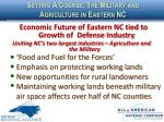 setting a course the military and agriculture in eastern nc