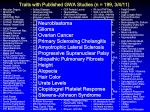 traits with published gwa studies n 199 3 4 11