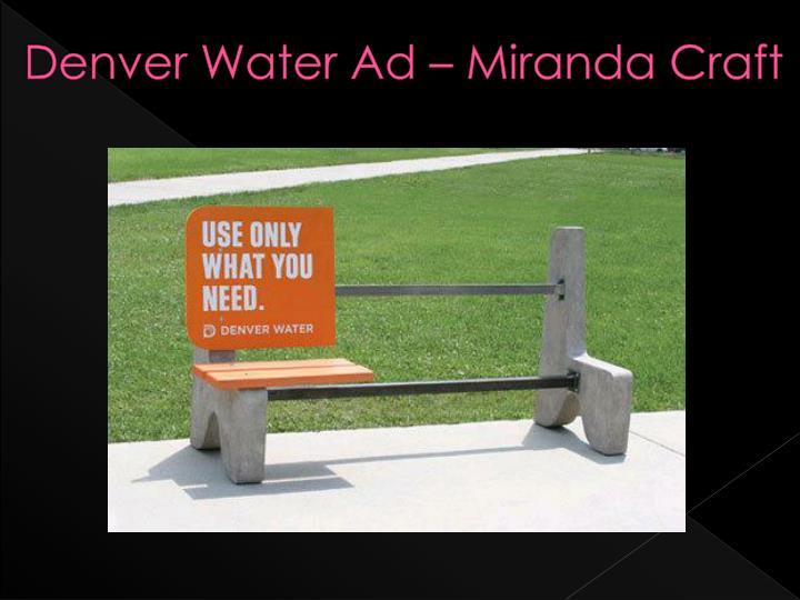 denver water ad miranda craft n.