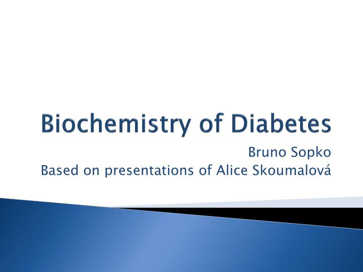 biochemistry of diabetes n.