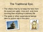 the traditional epic