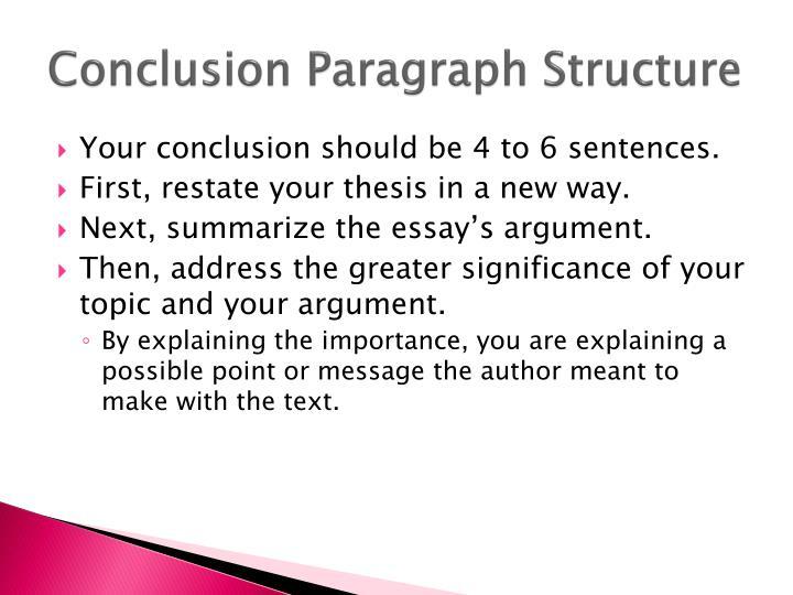 Conclusion paragraph structure