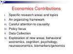 economics contributions