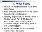 iv policy focus