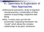 vi openness to exploration of new approaches