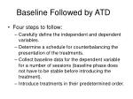 baseline followed by atd1