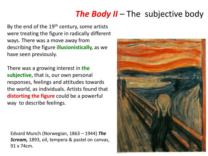 the body ii the subjective body n.