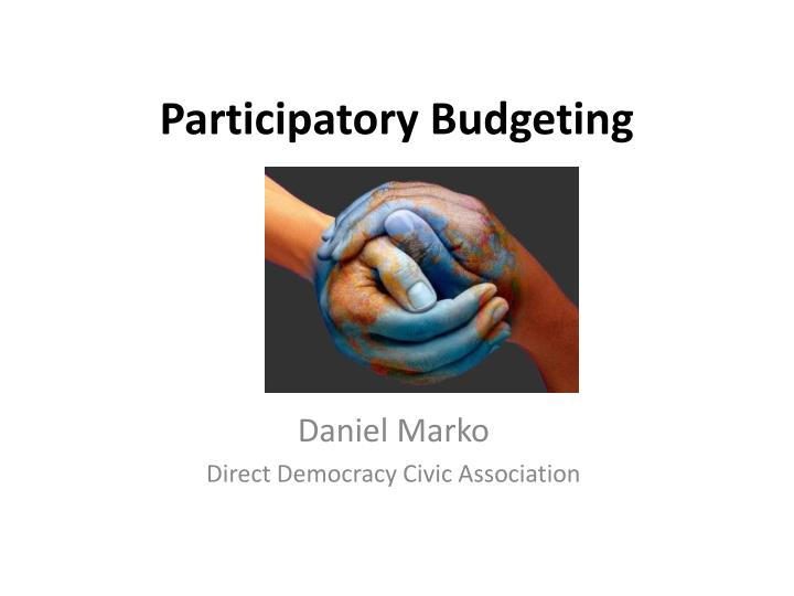 participatory budgeting n.