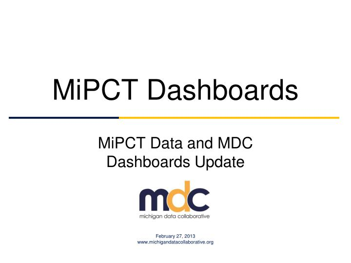 mipct dashboards n.