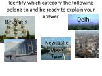 identify which category the following belong to and be ready to explain your answer
