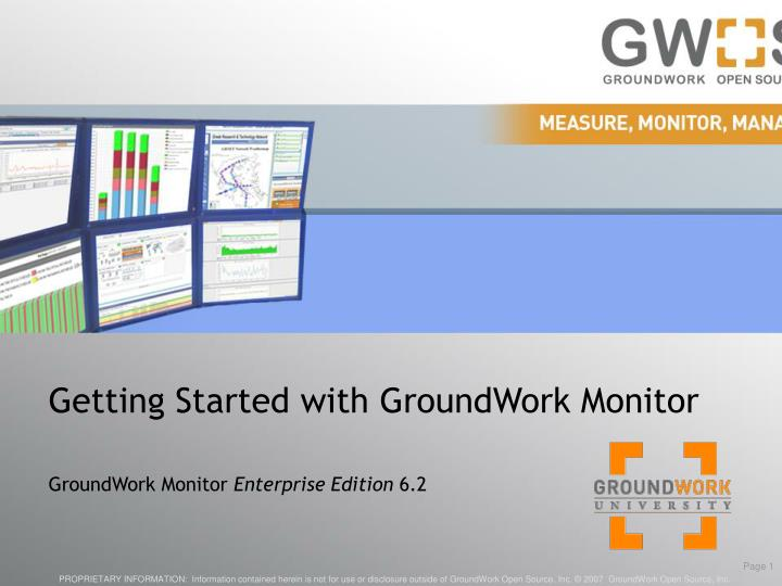 getting started with groundwork monitor n.