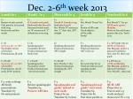 dec 2 6 th week 2013