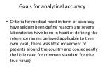goals for analytical accuracy
