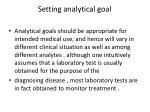 setting analytical goal
