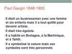 paul gaugin 1848 1903