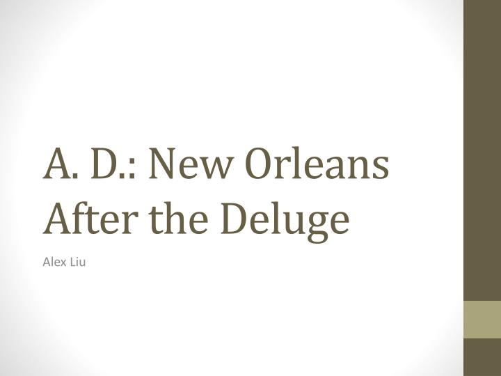 a d new orleans after the deluge n.