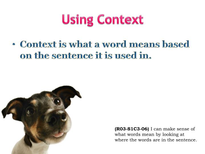 Using Context