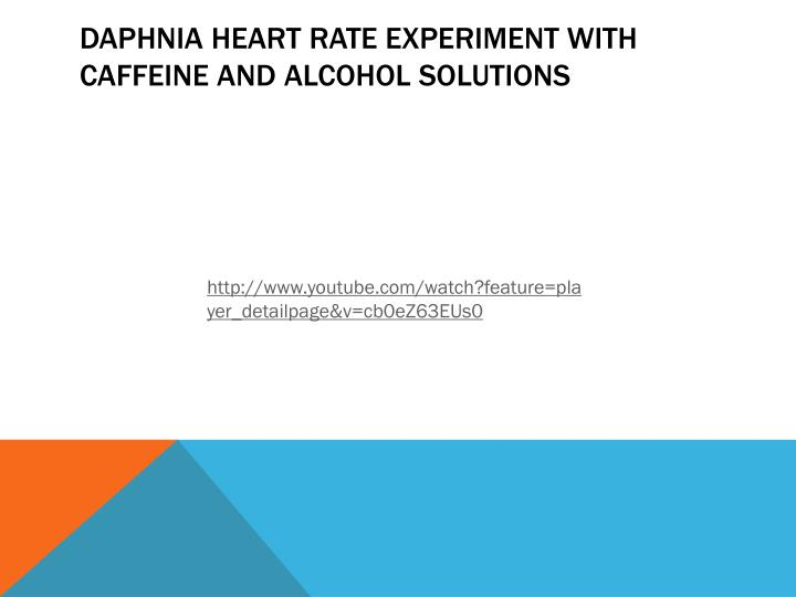 Daphnia Heart rate experiment with caffeine and alcohol solutions