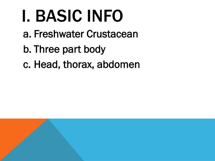 I basic info