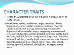 character traits1