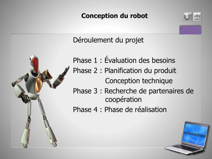 Conception du robot