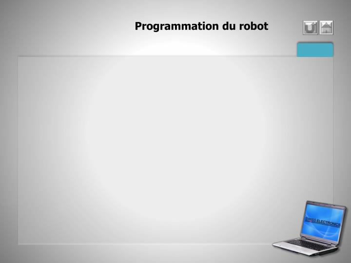 Programmation du robot