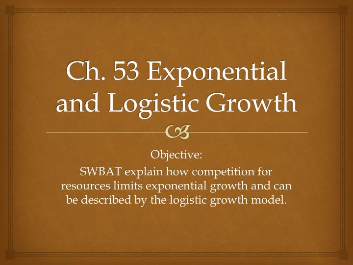 ch 53 exponential and logistic growth n.
