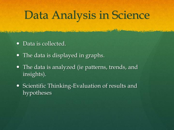 Data Analysis in Science