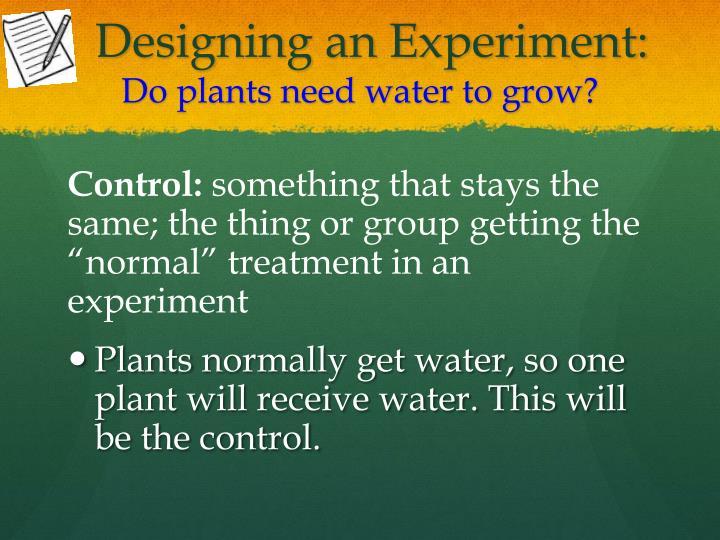 Designing an Experiment: