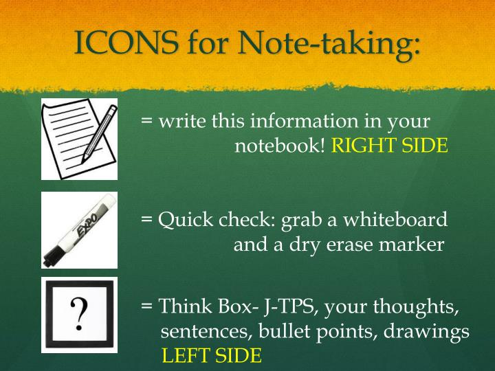 ICONS for Note-taking: