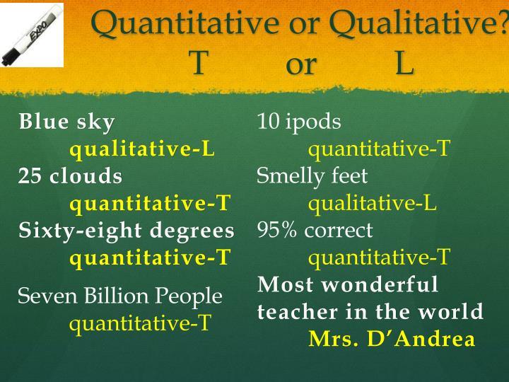 Quantitative or Qualitative?