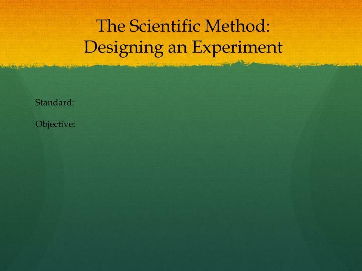 The Scientific Method: