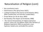 naturalisation of religion cont