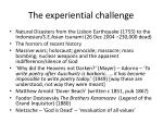 the experiential challenge
