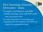illicit discharge detection elimination ideas