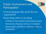 public involvement and participation