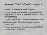analysis the stuff of champions
