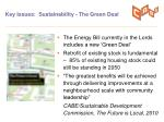 key issues sustainability the green deal